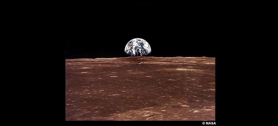 La terre vue de la lune –  NASA